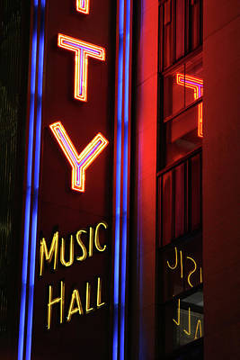 Photograph - Radio City Neon by Karol Livote