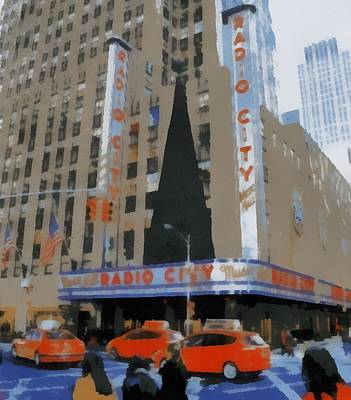 Rockefeller Plaza Painting - Radio City Pop Art by Dan Sproul