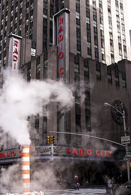 Photograph - Radio City Steam Pipe by Michael Dorn