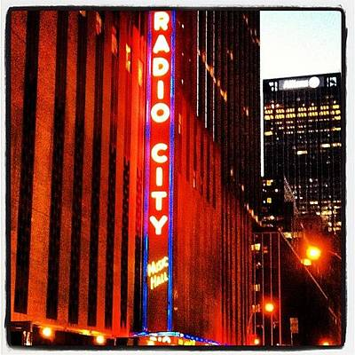 Concert Photograph - Radio City by Tammy Wetzel