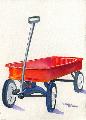 Radio Flyer Wagon Painting - Radio Flyer by Lou Ann Overman