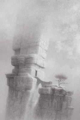 Atlantis Drawing - Radio Free Atlantis by Mark  Reep
