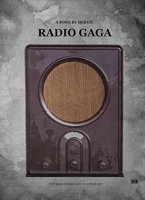Famous Songs Digital Art - Radio Gaga by Steve K