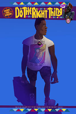 Drawing - Radio Raheem by Nelson Dedos Garcia