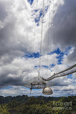 Photograph - Radio Telescope At Arecibo Observatory In Puerto Rico by Bryan Mullennix