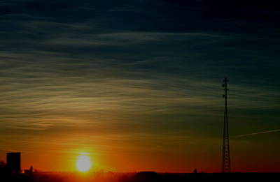 Photograph - Radio Tower Sunrise by Trent Mallett