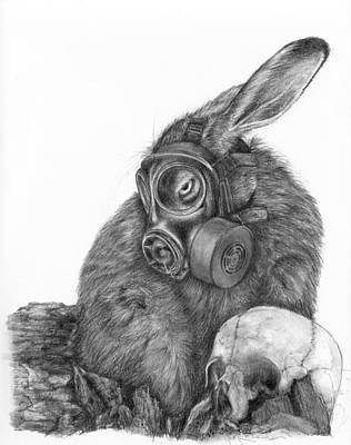 Radioactive Black And White Art Print