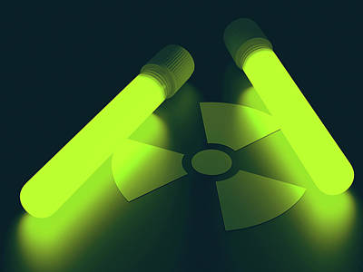 Bright Colours Photograph - Radioactive Symbol by Ktsdesign