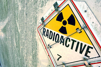 Photograph - Radioactive Warning Sign by Olivier Le Queinec