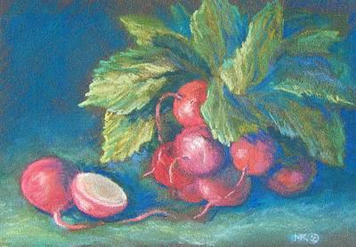 Pastel - Radish Cluster by Marlene Kingman