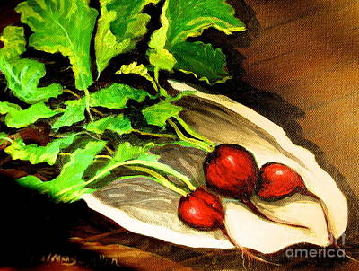 Painting - Radishes 2 by Gretchen Allen