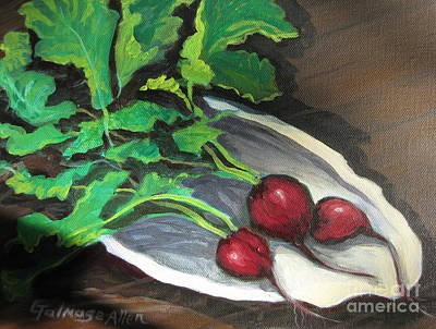 Painting - Radishes by Gretchen Allen