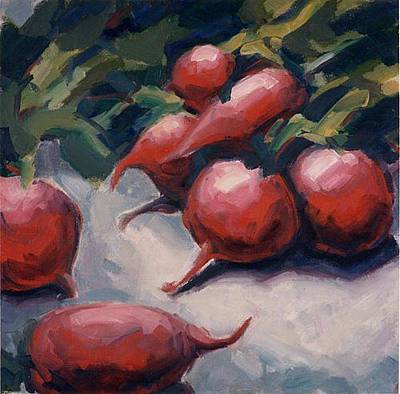 Painting - Radishes by Konnie Kim