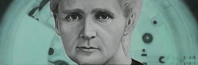 Evolution Painting - Radium- Marie Curie by Simon Kregar