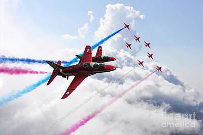 Red Tail Hawk Digital Art - Raf Ambassadors  by J Biggadike