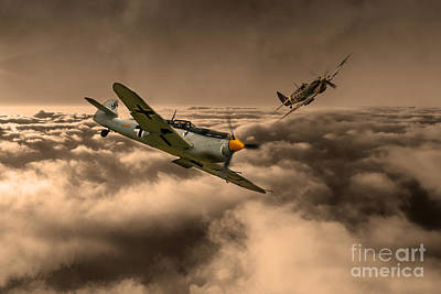 Raf And Luftwaffe Art Print by J Biggadike