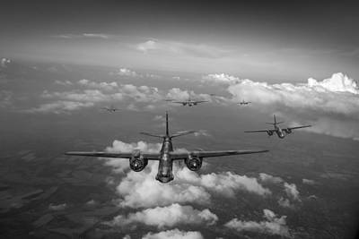 Raf Bostons At Medium Altitude Black And White Version Art Print