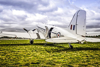 Transportion Photograph - Raf Dc-3 Dakota  by Chris Smith