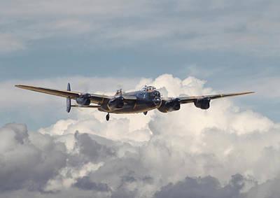 Lancaster Bomber Digital Art - Raf Lancaster by Pat Speirs