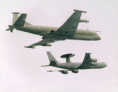 Art Print featuring the photograph Raf Nimrod And Awac Aircraft by Paul Fearn