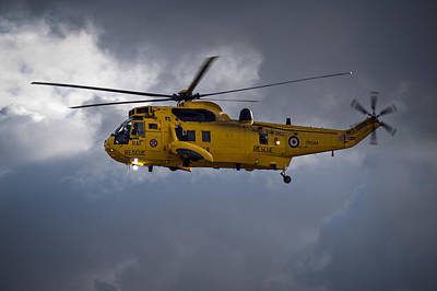 Photograph - Raf Rescue Helicopter by Gary Eason