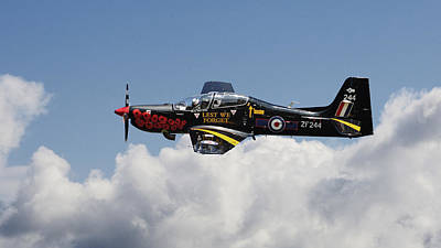 R A F Tucano - Trainer Aircraft Art Print by Pat Speirs