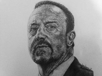 Rafa Drawing - Rafa Benitez by Sean Leonard