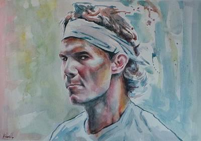 Rafa Painting - Rafa Nadal - Portrait 1 by Baresh Kebar - Kibar