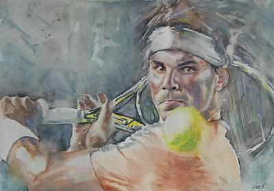 Rafa Painting - Rafa Nadal - Portrait 2 by Baresh Kebar - Kibar