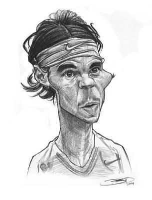 Rafa Drawing - Rafa Nadal by Sri Priyatham