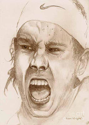 Drawing - Rafael Nadal by Nan Wright