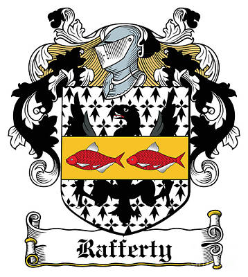 Rafferty Digital Art - Rafferty Coat Of Arms Irish by Heraldry