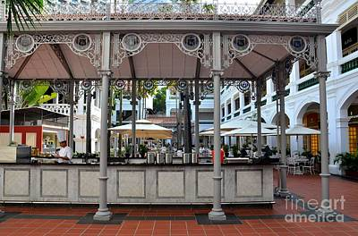 Raffles Hotel Courtyard Bar And Restaurant Singapore Art Print