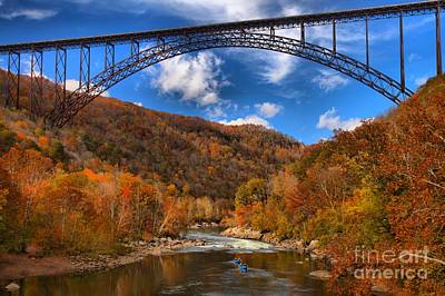 Photograph - Rafting Down The New River Gorge by Adam Jewell