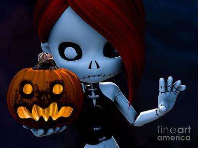 Rag Doll Halloween Art Print by Alexander Butler