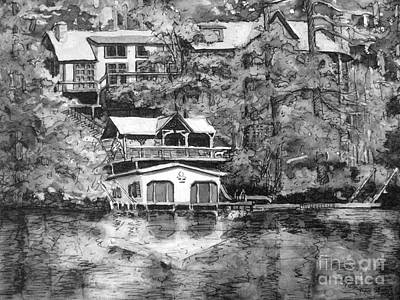 Painting - Ragan's Lake Rabun Home by Gretchen Allen