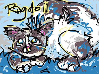 Brett Artist Drawing - Ragdoll Cat by Brett LaGue