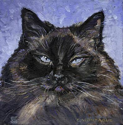 Painting - Ragdoll Cat Portrait Little Portrait Painting Series by Christine Montague