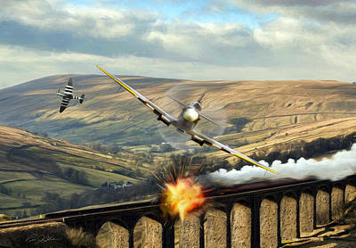 Vintage Warbirds Digital Art - Rage Against The Machine by Peter Chilelli