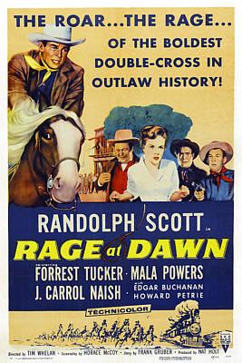 Rage At Dawn, From Left Randolph Scott Art Print by Everett