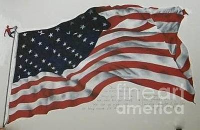 Glad Rags Painting - Ragged Old Flag by Katherine Tesch