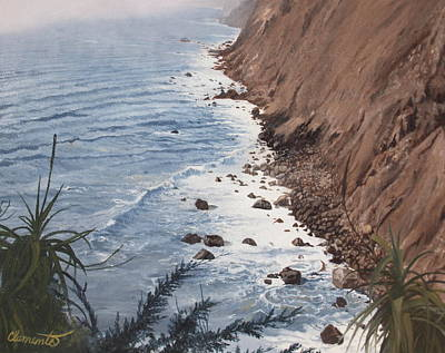 Painting - Ragged Point California by Barbara Barber