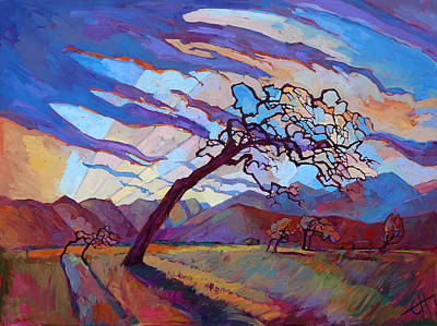 Group Of Seven Painting - Ragged Winds by Erin Hanson
