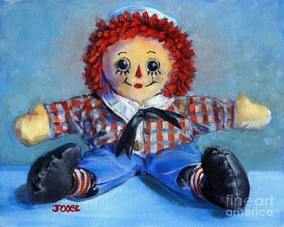 Raggedy Ann Painting - Raggedy Andy by Joose Hadley