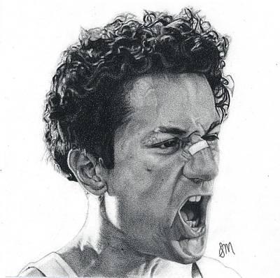 Robert Deniro Wall Art - Drawing - Raging Bull by Sierra Mink