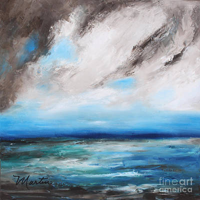 Moody Painting - Raging Sea by Larry Martin