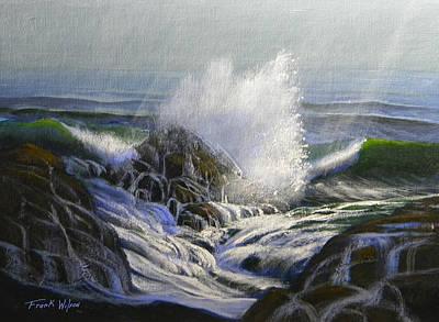 Raging Surf Print by Frank Wilson