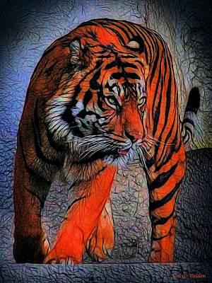 Photograph - Raging Tiger by Jon Volden