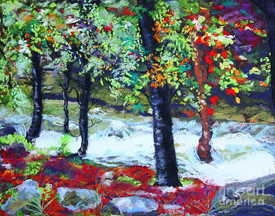 Fast Painting - Raging Yaupon Creek by Patricia  Collins-Perkey
