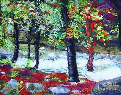 Raging Painting - Raging Yaupon Creek by Patricia  Collins-Perkey